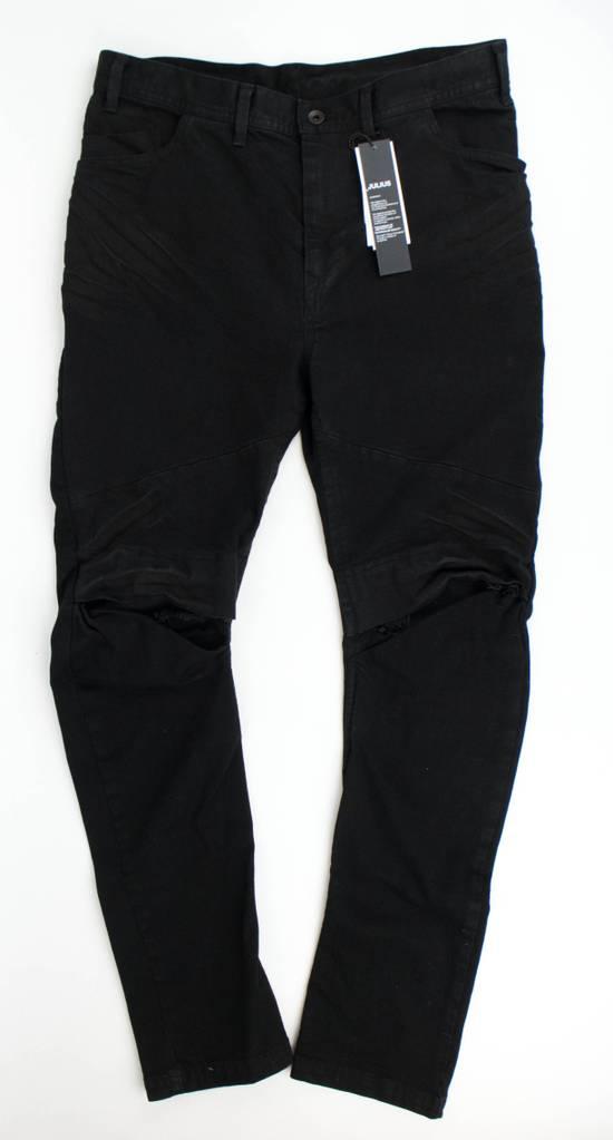 Julius 7 Black Cotton Blend 'Stretch Denim' Jeans Pants Size 4/L Size US 36 / EU 52 - 2