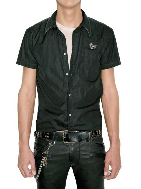 Balmain SS11 Decarnin Black Metal Badge Pin Poplin Shirt Size US M / EU 48-50 / 2 - 1