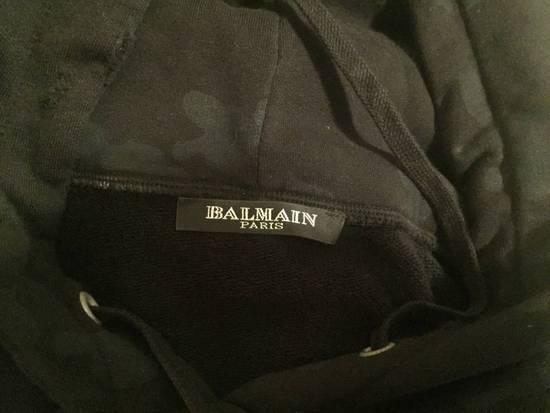 Balmain Distressed Camo Navy Hoodie Size US S / EU 44-46 / 1 - 3