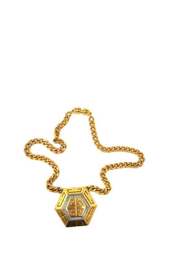 Givenchy OVERSIZED Gold plated logo necklace Size ONE SIZE - 18