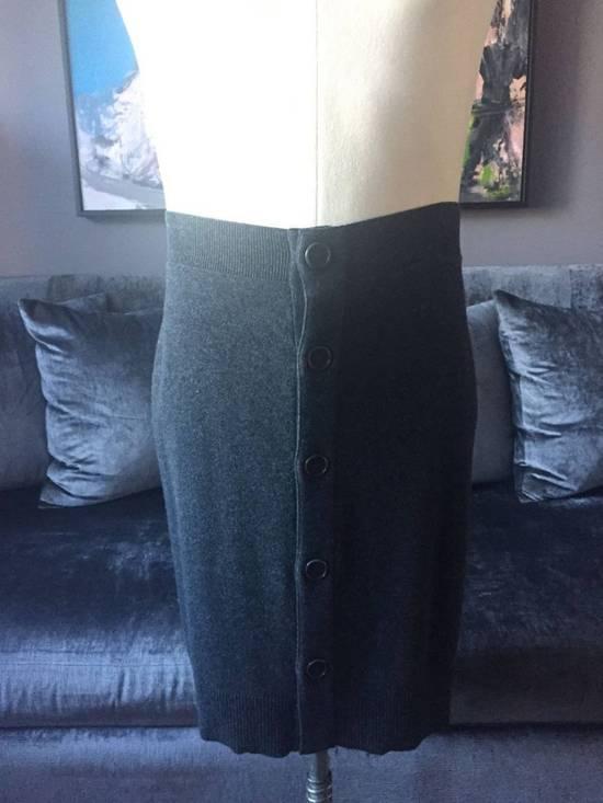 Givenchy Grey Wool Knit Runway Skirt Size US 36 / EU 52
