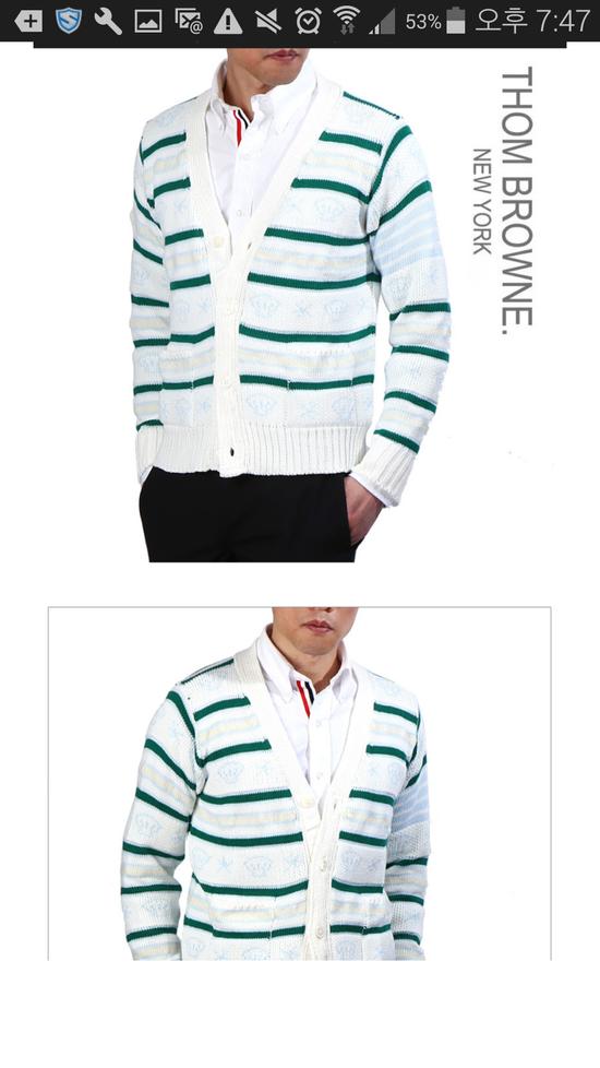 Thom Browne 16 Ss wool mohair fish cardigan Size US M / EU 48-50 / 2