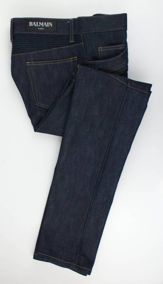 Balmain Blue Denim 'Biker Brut' Slim Fit Jeans Pants Size US 32 / EU 48