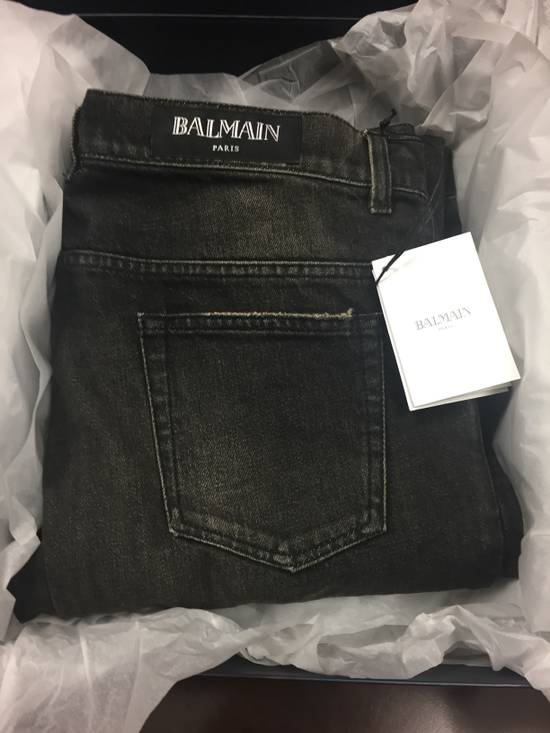 Balmain BIKER WASHED COTTON DENIM JEANS Black Size US 34 / EU 50 - 7