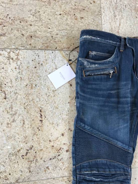 Balmain Distressed Blue Denim Size US 34 / EU 50 - 10
