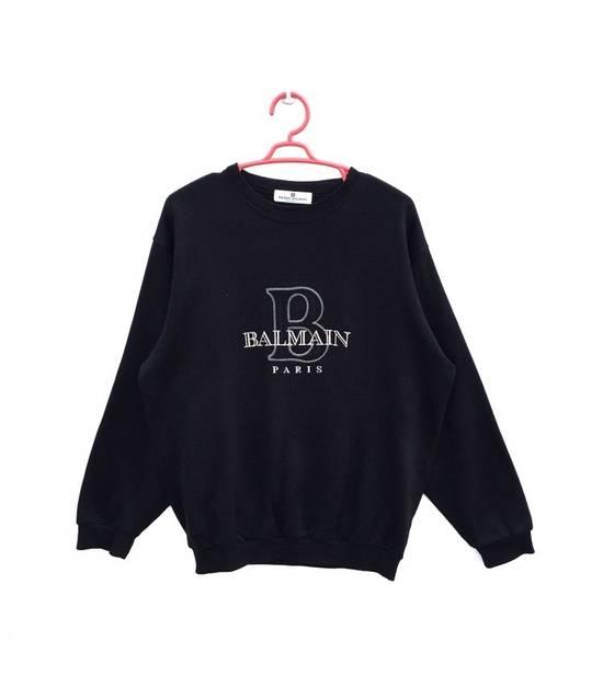 Balmain FREE SHIPPING!!! 100% Authentic Luxury Balmain / Pierre Balmain Embroidery Big Logo Sweastshirt / Balmain Crewneck Pullover Size US L / EU 52-54 / 3