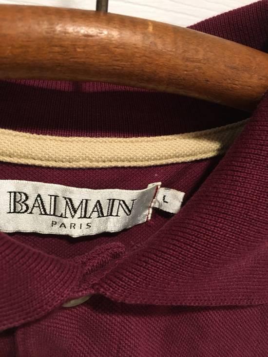 Balmain Vintage Maroon Polo Size US L / EU 52-54 / 3 - 4