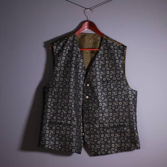 Julius Julius Lang Vest Sleeveless Jacket Polyester Floral Pattern Blue Green 28 XL Size US XL / EU 56 / 4