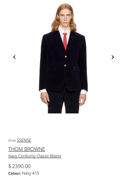 Thom Browne Navy Corduroy Blazer Size 36S - 9