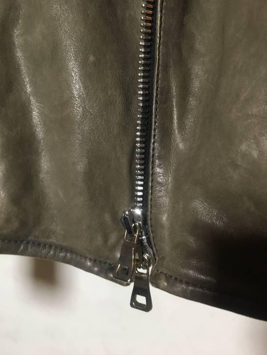 Balmain Olive leather jacket Size US M / EU 48-50 / 2 - 3
