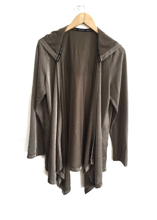Balmain Authentic Silk Rayon Spell Out Unbuttoned Hoodie Size US M / EU 48-50 / 2