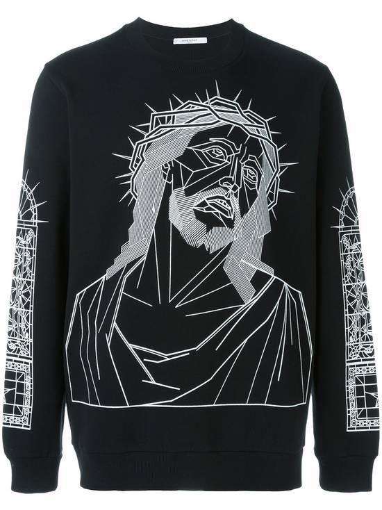 Givenchy GIVENCHY-Christ-Print-Sweatshirt-Size-L Size US L / EU 52-54 / 3