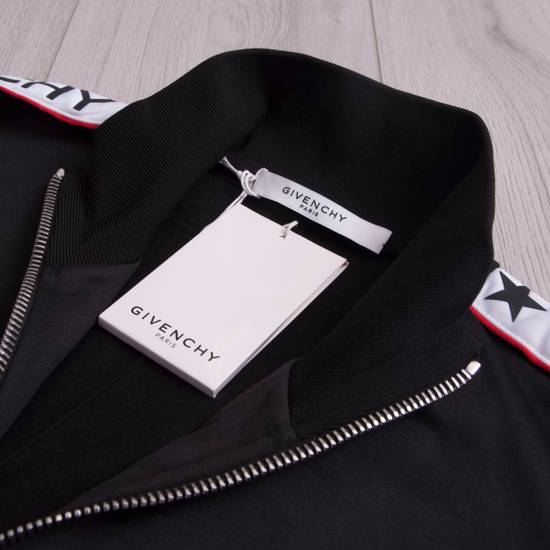 Givenchy Black Technical Jersey Jacket With Logo Banded Sleeves Size US L / EU 52-54 / 3 - 6