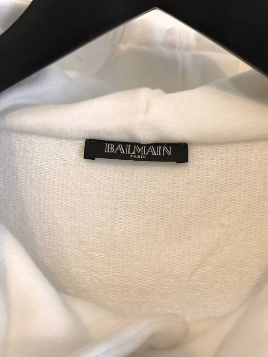 Balmain WHITE COTTON ZIP HOODY Size US XL / EU 56 / 4 - 3