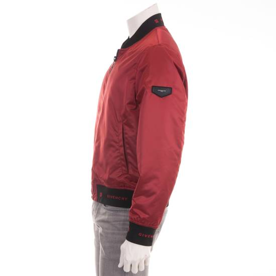 Givenchy Dark Red Nylon Givenchy Paris 4G Bomber Jacket Size US M / EU 48-50 / 2 - 2