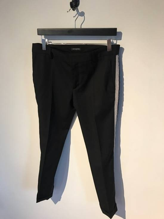 Balmain Balmain Black Tuxedo Band Trousers Size US 30 / EU 46 - 1