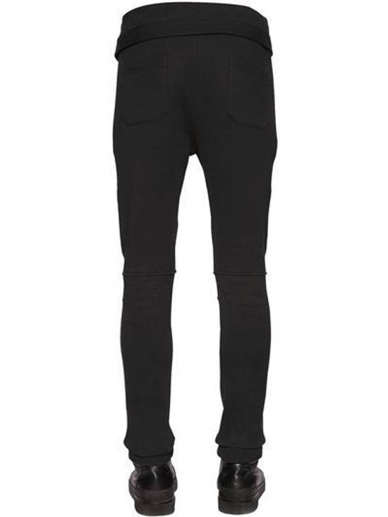 Balmain Balmain Cotton Jersey Biker Black Authentic $1040 Pants Size S New Size US 30 / EU 46 - 2