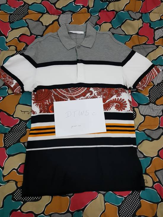 Givenchy Paisley Stripe Cuban Cotton Polo Size US S / EU 44-46 / 1 - 2
