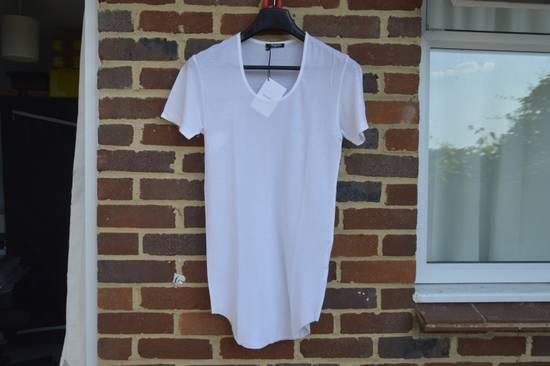 Balmain White Ribbed T-shirt Size US M / EU 48-50 / 2