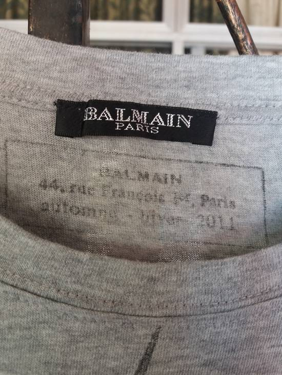 Balmain Ballmain paris tshirt with awesome pic big animal face/large size/made in france Size US L / EU 52-54 / 3 - 4