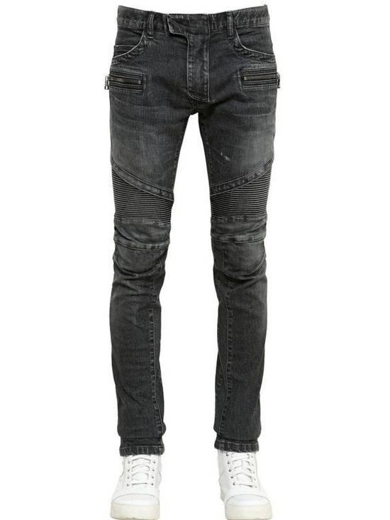 Balmain Balmain Biker Grey Washed Jeans Size 29 Size US 29