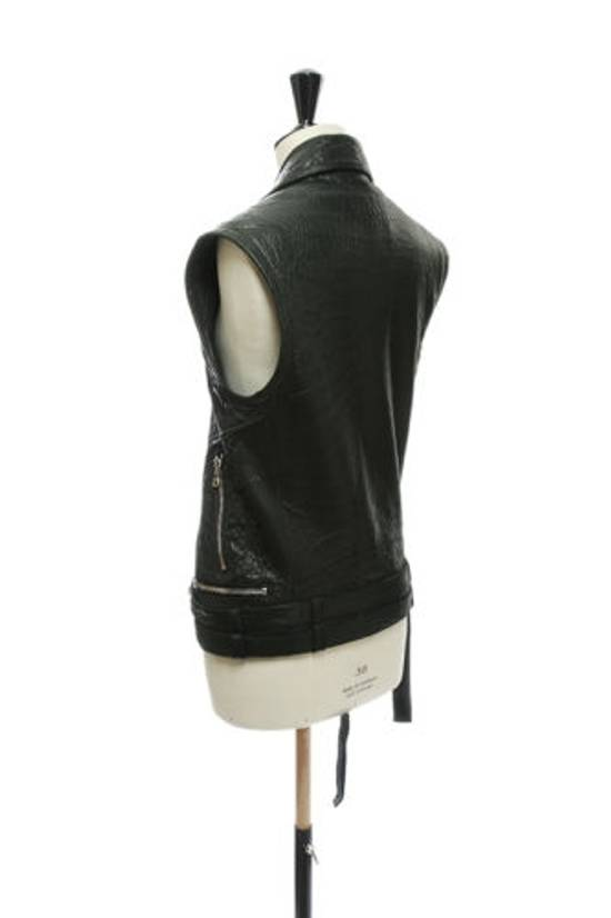 Balmain BALMAIN classic black pebble leather sleeveless biker jacket S FR46 US36 UK36 Size US S / EU 44-46 / 1 - 3