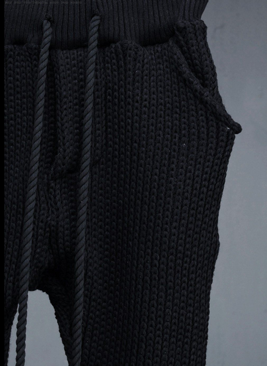Julius Byther - black julius knit pants - like thom krom, boris bidjan saberi, silent damir doma, rick owens Size US 32 / EU 48 - 4