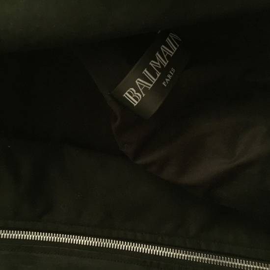 Balmain Balmain waxed biker jacket Size US XL / EU 56 / 4 - 1