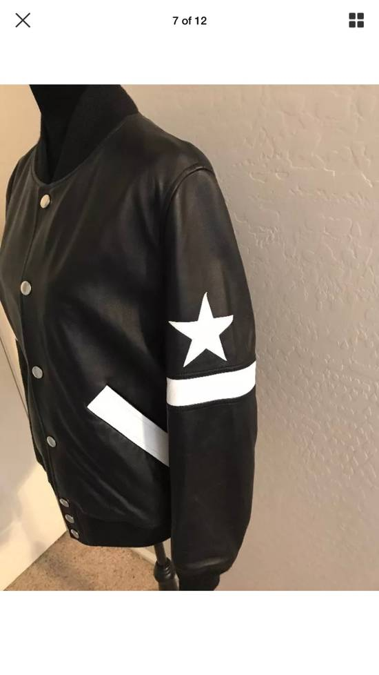 Givenchy Givenchy Black Leather Star And Stripe Bomber Jacket Size US M / EU 48-50 / 2 - 7