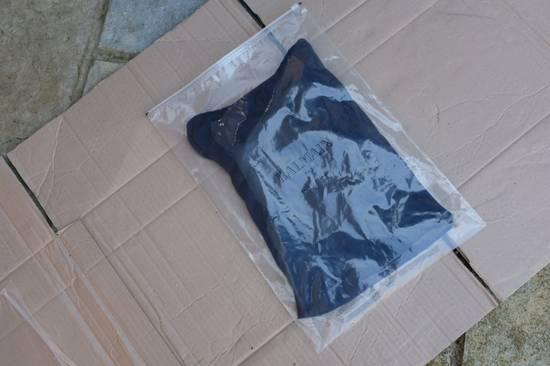 Balmain Blue Ribbed Knit Roll Neck T-shirt Size US M / EU 48-50 / 2 - 8