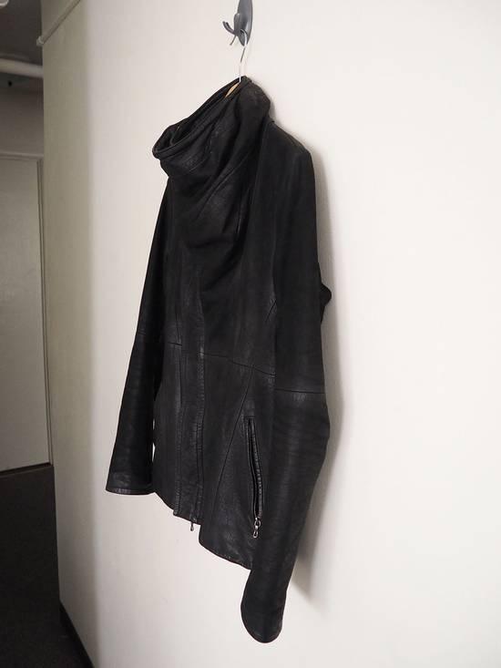 Julius FW10 Cowl Neck Leather Jacket Size US S / EU 44-46 / 1 - 3