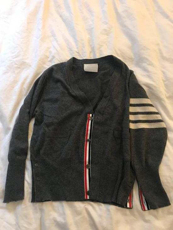 Thom Browne Classic grey cashmere cardigan Size US XXL / EU 58 / 5 - 1