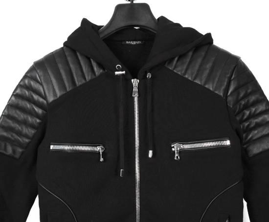 Balmain Original Balmain Leather App Black Men Hooded Sweatshirt Top Jumper in size M Size US M / EU 48-50 / 2 - 2
