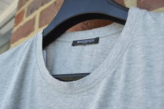 Balmain Grey Distressed T-shirt Size US M / EU 48-50 / 2 - 2