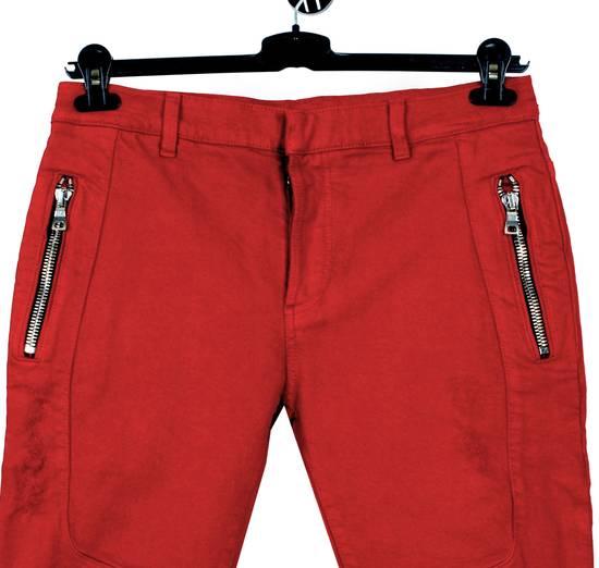 Balmain Original Balmain Distressed Red Men Biker Jeans in size 32 Size US 32 / EU 48 - 1