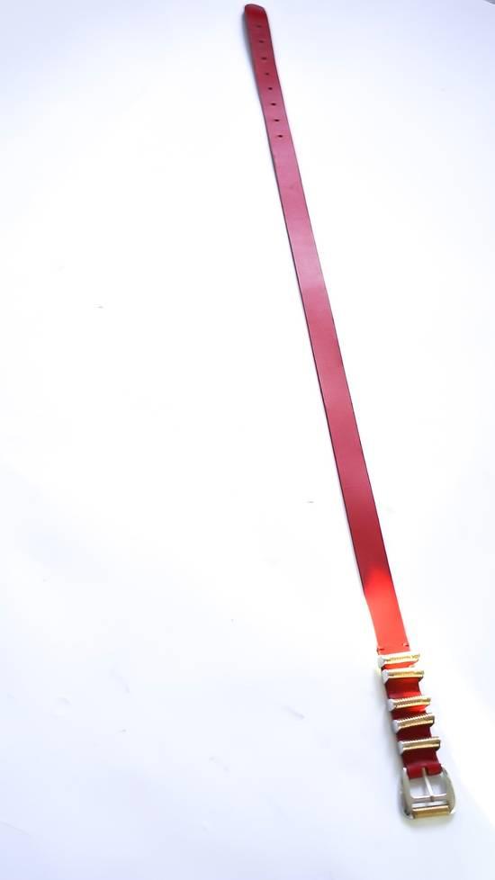 Balmain Balmain Red leather belt Size 38