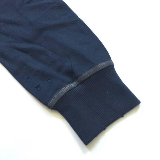 Balmain Distressed Navy French Terry Sweatshirt NWT Size US XL / EU 56 / 4 - 9