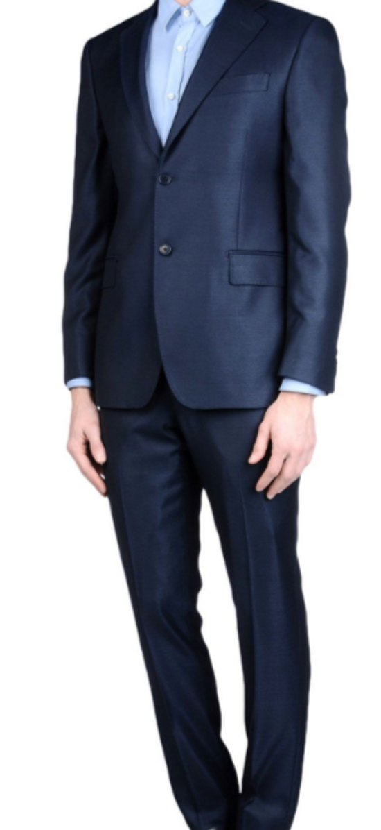 Balmain Brand New Blue Balmain Suit Size 52R