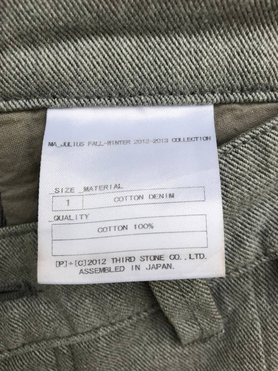 Julius FW2013 Ma Julius Military Tactical Paracute Denim Button Fly Light Grey Army Cotton Denim Assembled In Japan Trousers Pants Size US 29 - 15