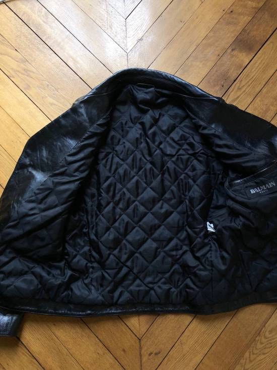 Balmain Black Horse Leather Double Rider Jacket Size US L / EU 52-54 / 3 - 10
