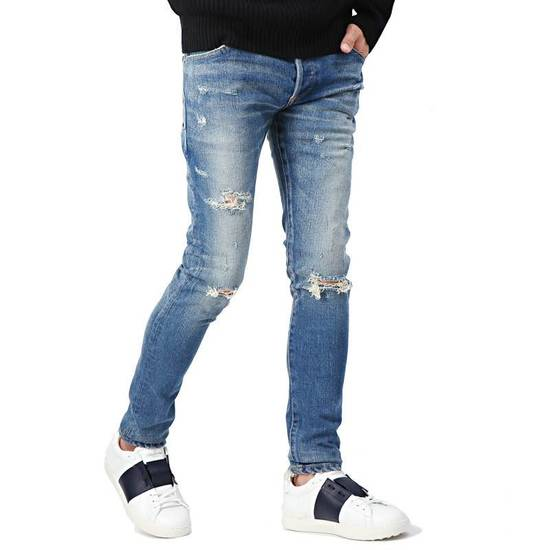 Balmain Blue Distressed Faded Skinny Jeans(Made in Japan) Very Rare! Size US 30 / EU 46 - 3