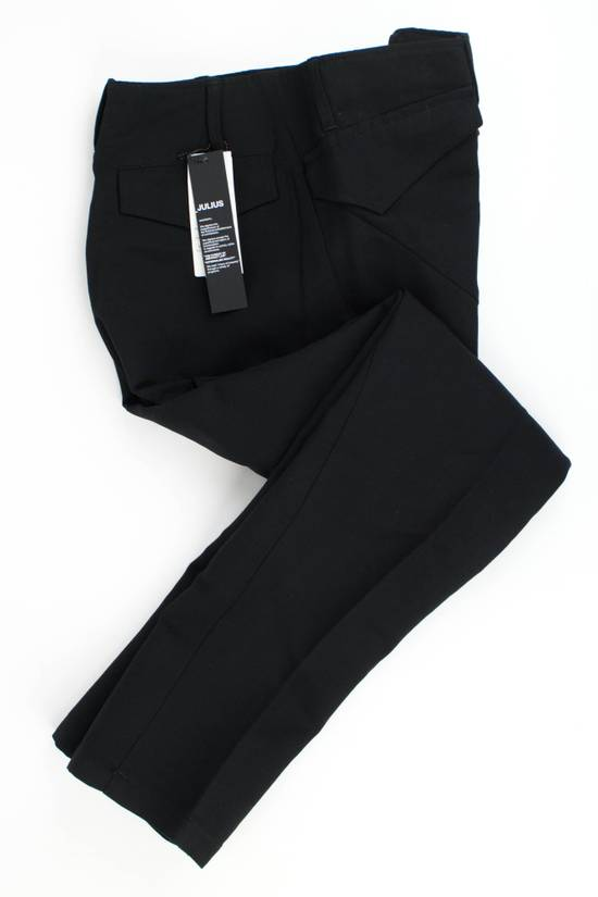 Julius 7 Black Cotton Blend Casual Trousers Pants Size 3/M Size US 34 / EU 50