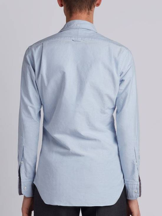 Thom Browne classic shirt with grosgrain placket in blue oxford Size US XS / EU 42 / 0 - 3