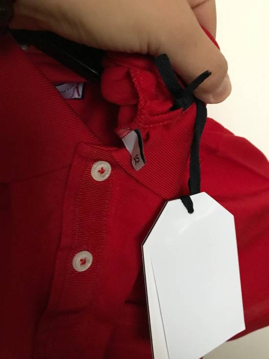 Thom Browne Red Cotton Polo Size US XS / EU 42 / 0 - 1