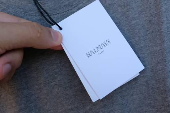 Balmain Grey Distressed T-shirt Size US M / EU 48-50 / 2 - 3
