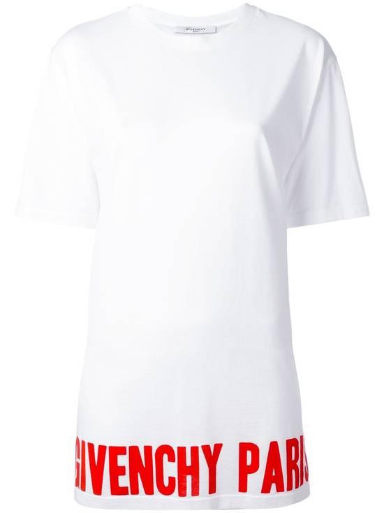 Givenchy Red Hem Logo T-shirt Size US S / EU 44-46 / 1 - 1