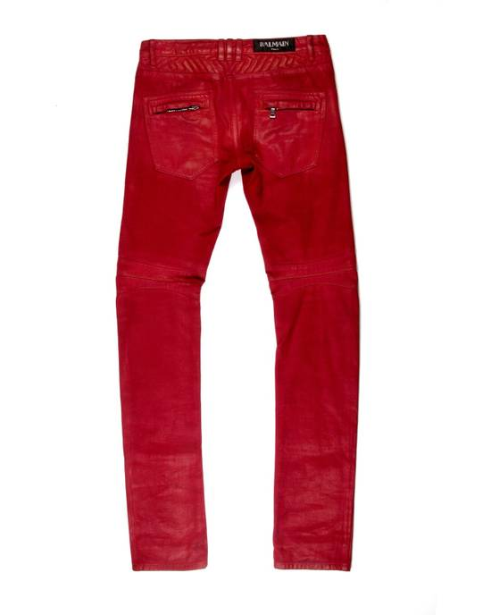 Balmain Balmain Biker Denim Red Size US 28 / EU 44 - 2