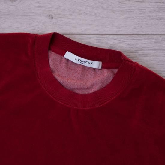 Givenchy Dark Red Men's Velour Crewneck T-Shirt With 4G Chest Logo Size US M / EU 48-50 / 2 - 5