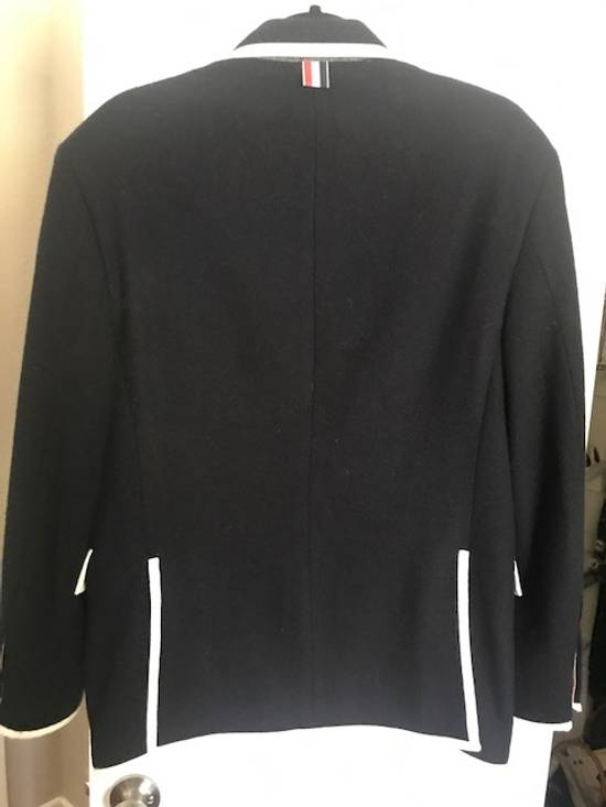 Thom Browne Blue navy blazer with white pipping Size 40R - 2