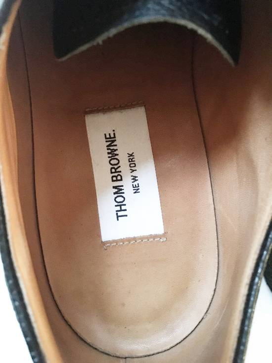 Thom Browne THOM BROWNE CLASSIC BROGUES WITH GUM SOLE IN BLACK PEBBLE GRAIN SIZE US11 Size US 11 / EU 44 - 7
